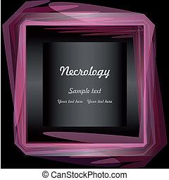 Necrology - EPS10 vector illustration