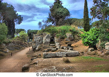 necropolis, cerveteri, etruscan