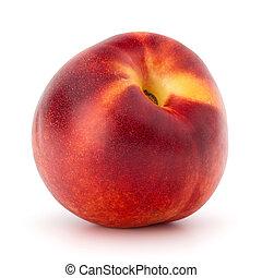 Nectarine fruit isolated on white background close up