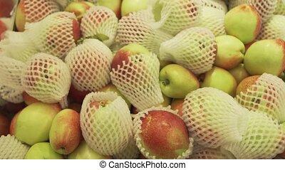Nectarine sold in supermarket stock footage video -...