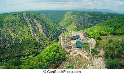 Necven fortress, aerial