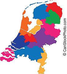 nederländerna, karta