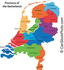 nederland, kaart