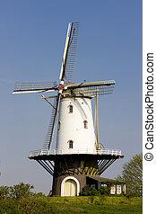 nederland, veere, zeeland, windmolen
