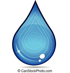 nedgang vand, vektor, ikon, logo