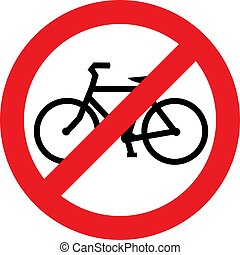 nee, fiets, meldingsbord