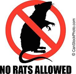 nee, ratten, toegestaan