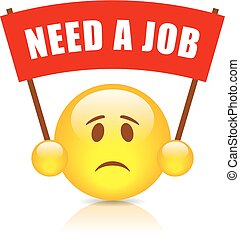 Need a job red banner