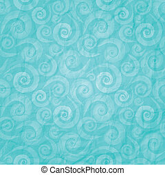 need for sea - seamless waves pattern on blue paper texture