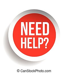 Need help? Question icon vector label