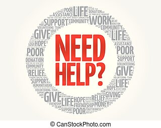 Need help? word cloud collage