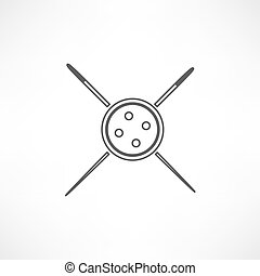 Needle and thread icon