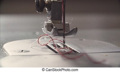 Needle and thread of the sewing machine