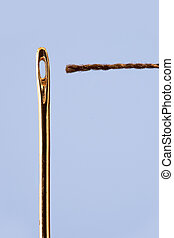Needle and thread close-up