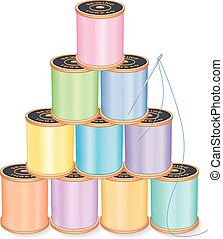 Needle and Threads Pyramid, Pastels