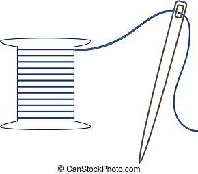 Needle icon. Vector
