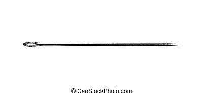 Needle on a white - Needle isolated on a white background. ...