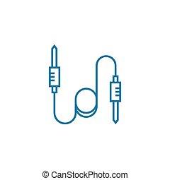 Needle plugs linear icon concept. Needle plugs line vector...