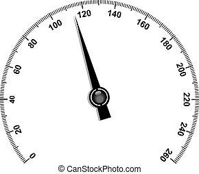 Needle speedometer - Illustration of needle speedometer...