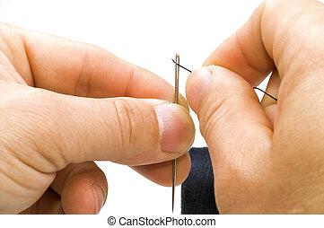Needle stringing