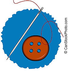 needle thread and clothing button