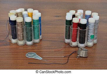 Needle, thread, twine and threader