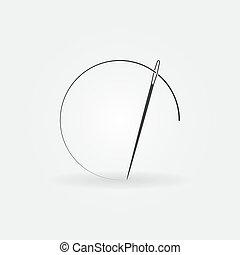 Needle vector concept icon or logo