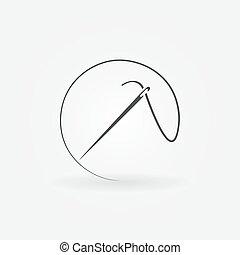 Needle vector icon or logo