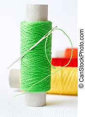 Needle with a threads