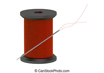 needle with sewing thread