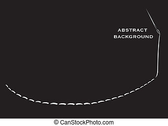 Vector illustration of a needle with thread in an abstract black background