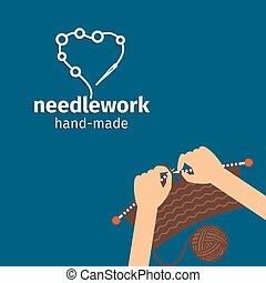 Needlework kids handmade