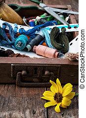needlework - embroidery is the main type of needlework