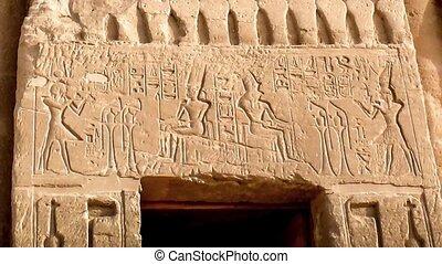 Nefertari temple, Abu-Simbel - Statues of Ramses II guarding...