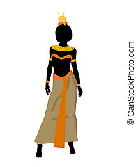 Nefertiti Illustration Silhouette - Nefertiti silhouette on...