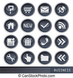 negócio, ícone