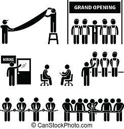 negócio, abertura principal