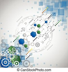 negócio, abstratos, ilustração, fundo, vetorial, tecnologia