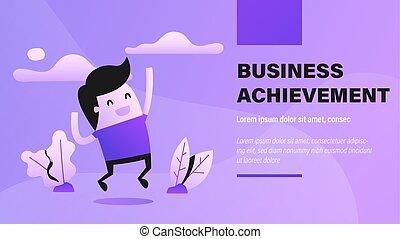 negócio, achievement.