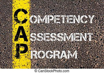 negócio, acrônimo, boné, como, competency, avaliação,...