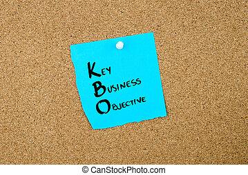 negócio, acrônimo, kbo, tecla, negócio, objetivo