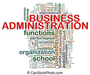 negócio, administração, palavra, etiquetas