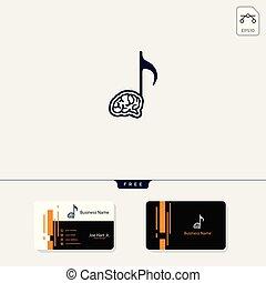 negócio, adquira, livre, criativo, cérebro, desenho, modelo, logotipo, música, cartão