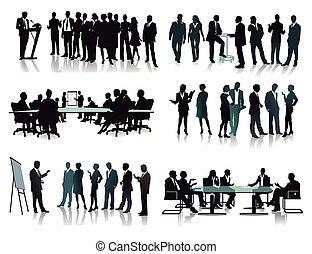 negócio agrupa, reuniões
