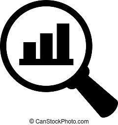 negócio, análise, ícone