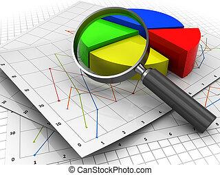 negócio, analizing