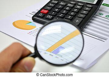 negócio, analytics., calculadora, financeiro, relatórios