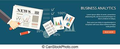 negócio, analytics