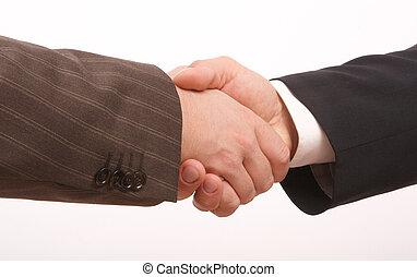 negócio, aperto mão 2