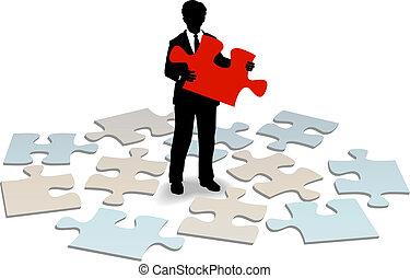 negócio, apoio freguês, resposta, ajuda